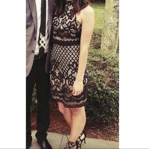Black Lace Overlay Dress